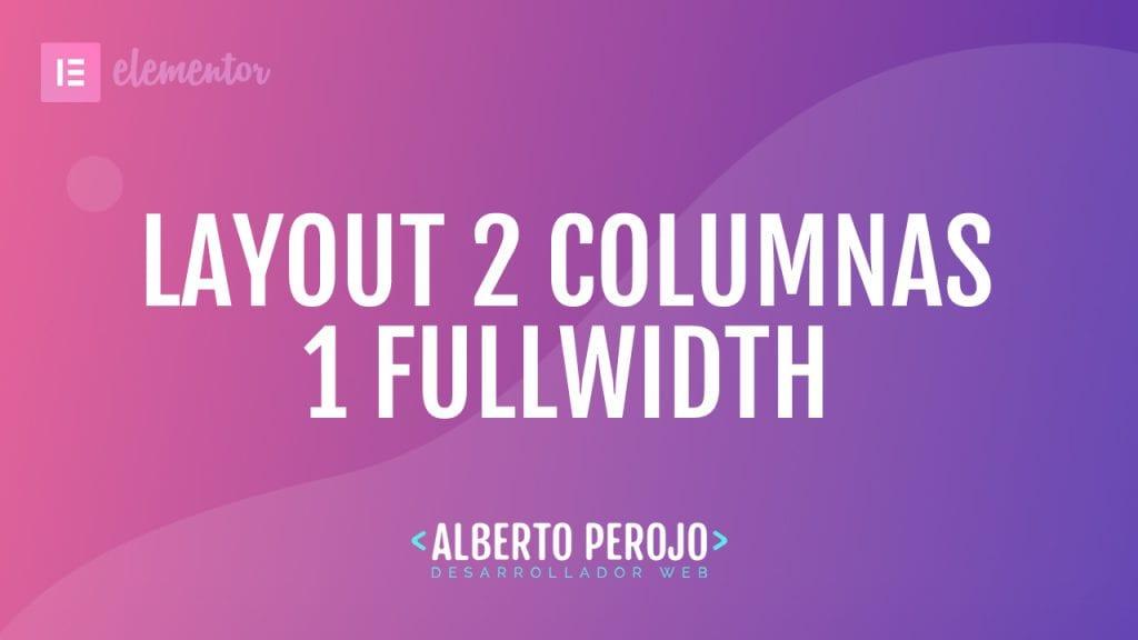Layout 2 columnas elementor