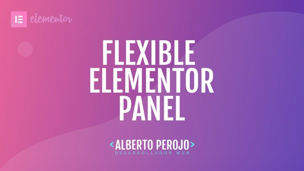 Elementor Flexible Panel